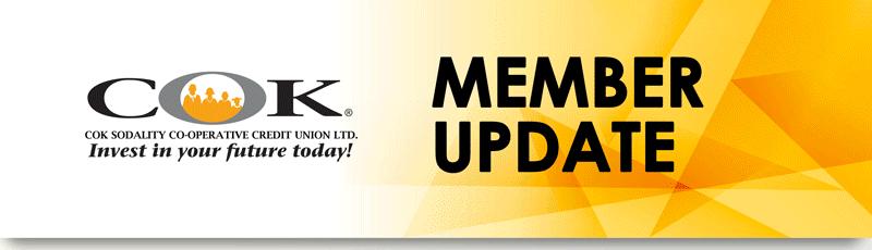 COK Sodality Member Update Cross Roads Branch closure April 30 – May 1, 2020