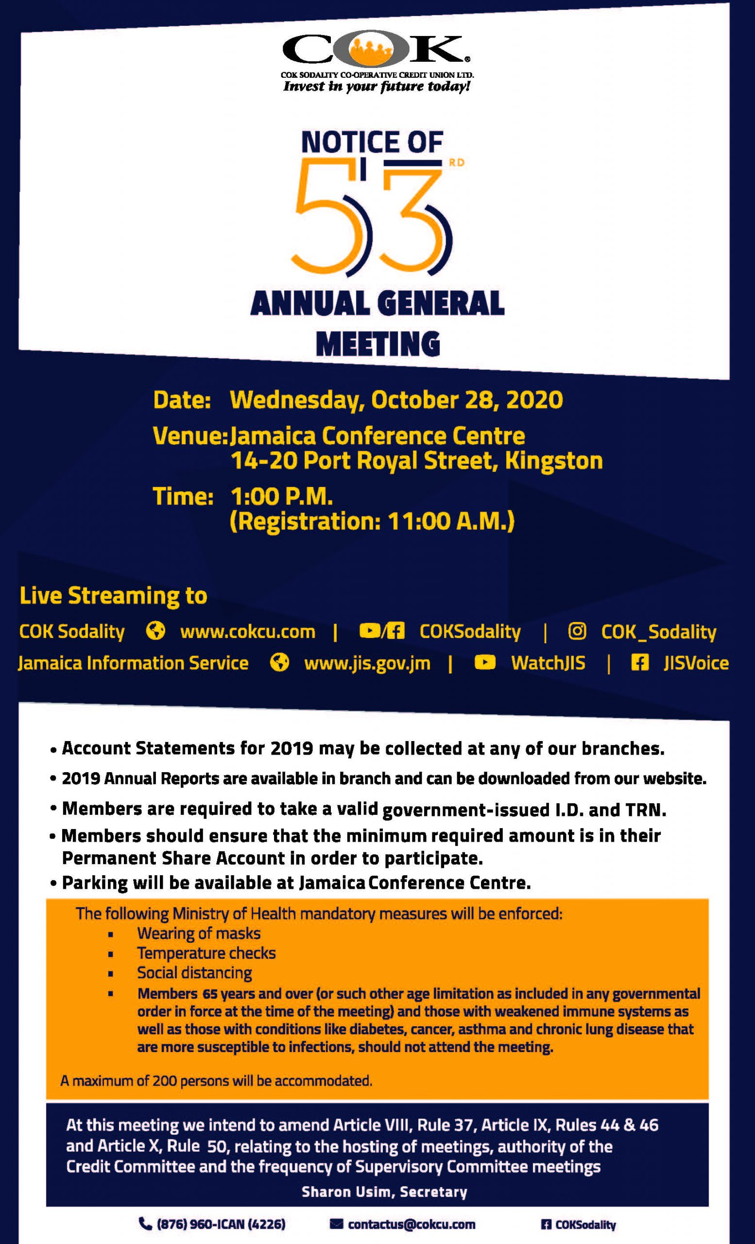 Annul General Meeting Notice