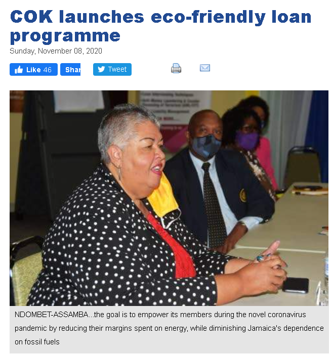 COK launches eco-friendly loan programme